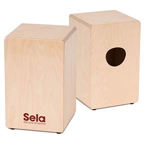 Sela SE 117 Primera - Cajon für Einsteiger und Fortgeschrittene - inkl. Sela Snare System, 12 mm Birkenkorpus, spielfertig aufgebaut, Made in Germany