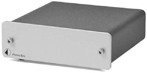 Pro-Ject Phono Box MM/MC Phono Vorverstärker mit Hochpegelausgang silber