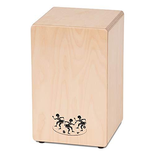 CASCHA Cajon Box Natur, Handtrommel für Einsteiger und Anfänger, mit Snare-Sound, hochwertiger Birkenkorpus, aufgebaut