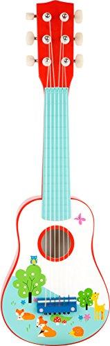 small foot 10725 Kindergitarre aus Holz, das erste Musikinstrument, fördert musikalische Fähigkeiten, ab 3 Jahren