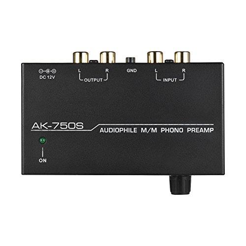 Muslady Vorverstärker Audiophil M/M Phono Vorverstärker mit Niveau Kontrollen RCA-Eingang & Ausgabe Schnittstellen