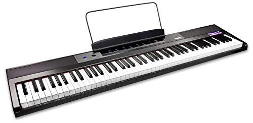 RockJam 88 Schlüssel Anfänger digital Klaviertastatur Klavier mit Gross semiweighted Tasten Notenständer Klavier Anmerkung Aufkleber Stromversorgung und builtin Lautsprecher