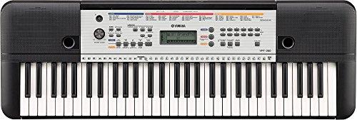 Yamaha Keyboard YPT-260, schwarz – Vielseitiges Einsteiger-Keyboard mit 61 Tasten & zahlreichen Funktionen zum Lernen – Tragbares E-Keyboard im kompakten Design