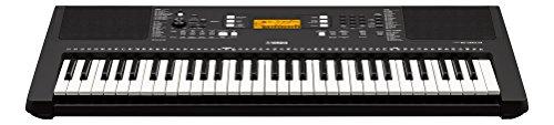 Yamaha Digital Keyboard PSR-E363, schwarz – Vielseitiges Instrument mit 61 anschlagdynamischen Tasten – Einsteiger-Keyboard mit hochwertigen Instrumentenklängen