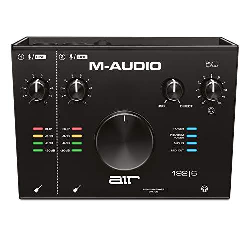 M-Audio AIR 192 | 6 - 2-in-2-out USB Audio- / MIDI-Schnittstelle mit ProTools und Ableton Live Recording Software mit Studio Effekten und Instrumenten