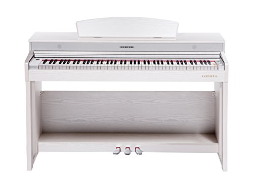 Kurzweil m230-sr Digital Home Piano mit 88Hammer Action Tastatur, Palisander weiß