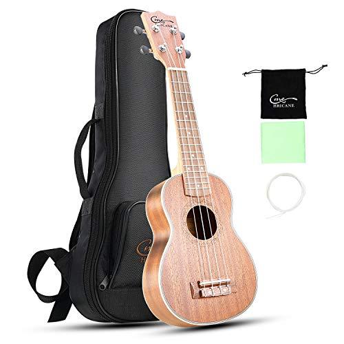 Hricane Ukulelen, Sopran 21 Zoll Professional Hawaii-Gitarre Musikinstrumente Kleine Gitarrenpackung mit Tasche