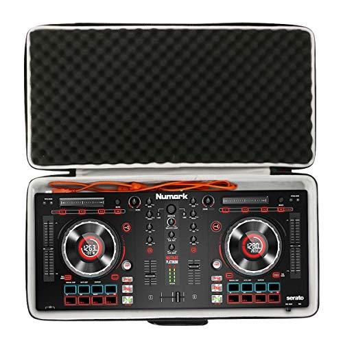 Khanka Eva Hart Reise Tragetasche case für Numark Mixtrack Platinum All-In-One 4-Deck DJ Controller. (Schwarz)