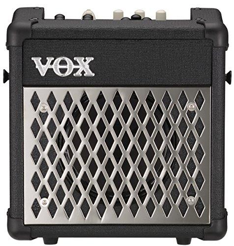 VOX E-Gitarrencombo Mini5 Rhythm, Lautsprecher-Verstärker-Kombination, kleiner Verstärker für unterwegs, Modeling-Amp mit Rhythmus-Sektion, schwarz, silber